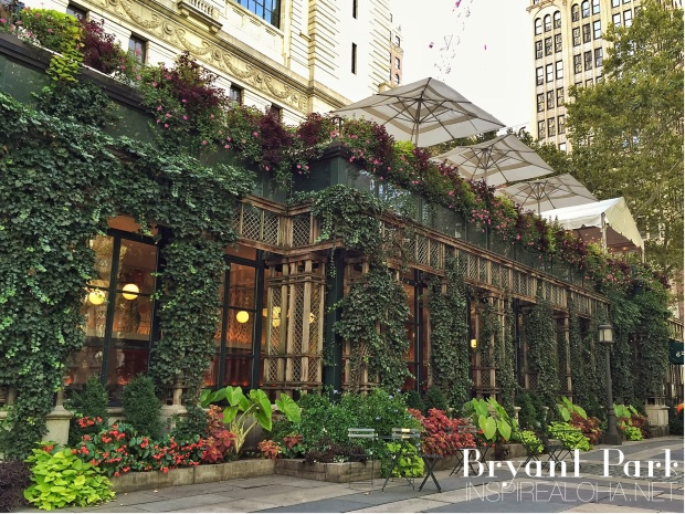 New York Stops: Central, Madison Square, and Battery Park -- Bryant Park Grill