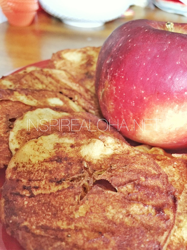 Fall Recipe -- Make Your Own Healthy Baked Apple Chips -- Inspirealoha.net